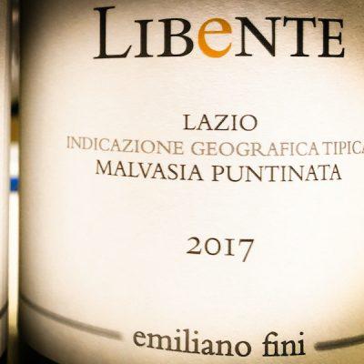 """Lazio IGT Malvasia Puntinata """"LIBeNTE""""  – 2017 – Emiliano Fini."""